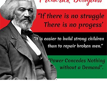 Frederick Douglass Quotes Pan African Flag Black History by funnytshirtemp