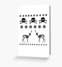 Winter Pattern Greeting Card
