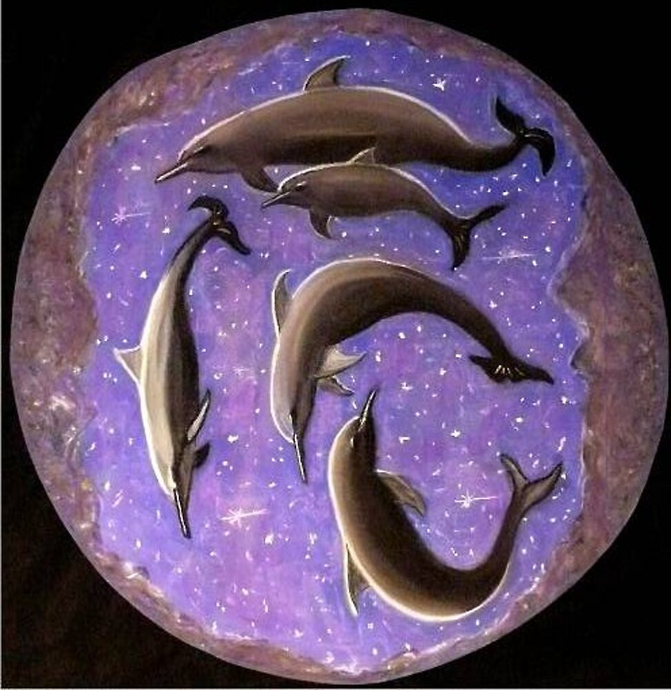 Celestial Dolphins by Alexart