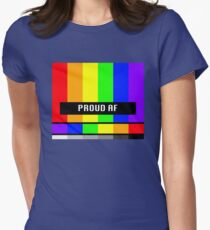 Proud AF Rainbow Womens Fitted T-Shirt