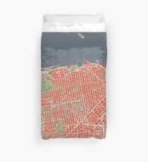San Francisco map classic Duvet Cover