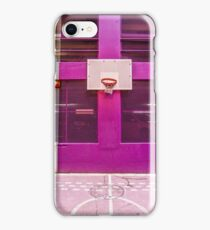 Pink and purple basketball court iPhone Case/Skin