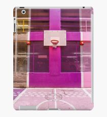 Pink and purple basketball court iPad Case/Skin