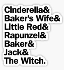 Into the Woods Characters | White Sticker