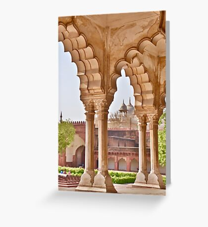 View in Agra Fort Greeting Card