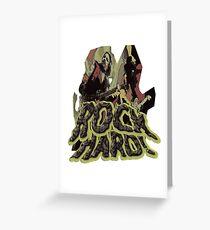 Rock Hard Greeting Card