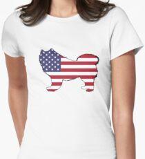 American Flag – Samoyed T-Shirt