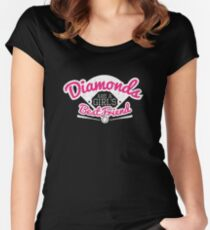 Softball Diamonds are a Girl's Best Friend Women's Fitted Scoop T-Shirt