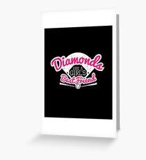 Softball Diamonds are a Girl's Best Friend Greeting Card