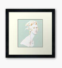 Tilda Swinton - magic woman Framed Print
