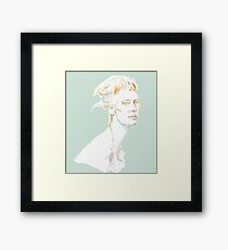 Tilda Swinton - magic woman Framed Print