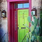 Tucson green door by Linda Sparks