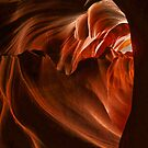 The heart of Antelope Canyon by Linda Sparks
