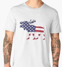 American Flag – Moose Men's Premium T-Shirt