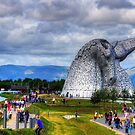 Enjoying the Kelpies by Tom Gomez