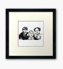 Three Stupid Idiot Ultra Stooges Framed Print