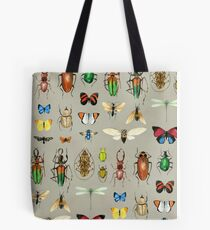 The Usual Suspects - Insects on grey Tote Bag
