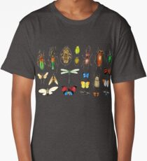 The Usual Suspects - Insects on grey Long T-Shirt