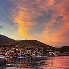 Setting Sun over Nimborio by Tom Gomez