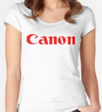 canon Women's Fitted Scoop T-Shirt