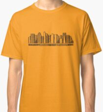 Manhattan Buildings in black and white Classic T-Shirt