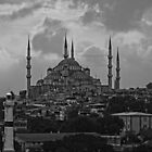 The Blue Mosque, Istanbul - B&W by Tom Gomez