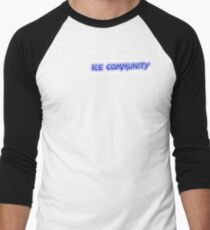 Ice Community Office Uniform Men's Baseball ¾ T-Shirt