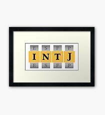 INTJ Spin Framed Print