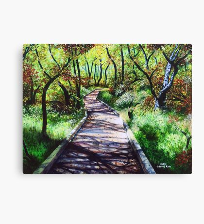 'AUTUMN ON THE GREENWAY' Canvas Print