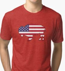 American Flag – Bison Tri-blend T-Shirt