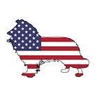 Amerikanische Flagge - Border Collie von DelirusFurittus