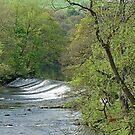 River Derwent Weir, Baslow by Rod Johnson