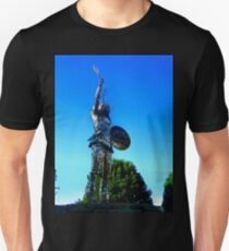 Statue of a Celtic Warrior, Old Church Visitors Centre, An Grianan, Donegal, Ireland Unisex T-Shirt