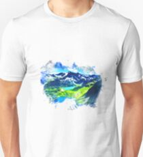 Mountain Range Painting Unisex T-Shirt