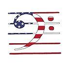 Amerikanische Flagge - Bassschlüssel von DelirusFurittus