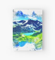 Mountain Range Painting Hardcover Journal