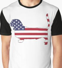 American Flag – Basset Hound Graphic T-Shirt