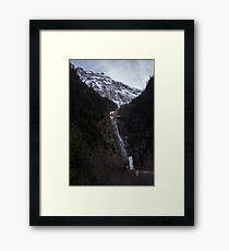 Twin Falls, Smithers, British Columbia Framed Print