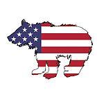 Amerikanische Flagge - Bär von DelirusFurittus