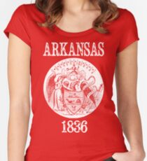Arkansas State Seal Women's Fitted Scoop T-Shirt
