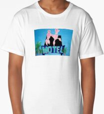 The Pink Poodle Motel Sign [oil ,acrylic,texture paint, painting] Long T-Shirt