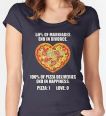 Pizza vs Love Women's Fitted Scoop T-Shirt