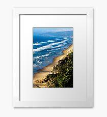 Cape Lookout Summer Waves Oregon coast Framed Print