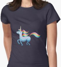 Happy Unicorn Womens Fitted T-Shirt