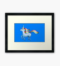 Happy Unicorn Framed Print