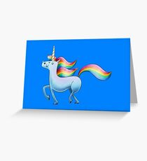 Happy Unicorn Greeting Card