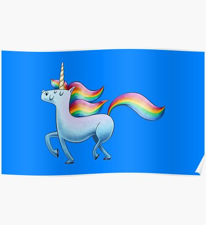 Happy Unicorn Poster
