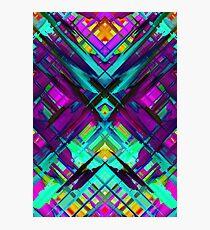 Colorful digital art splashing G472 Photographic Print