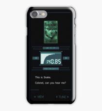 Codec SNAKE -Can you hear me?- iPhone Case/Skin
