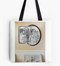 manipulated mirror Tote Bag